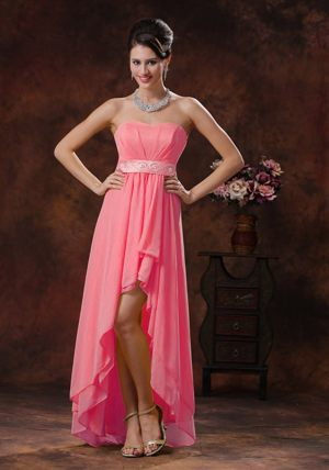Watermelon High-low Belt Bridesmaid Dress in Durban South Africa