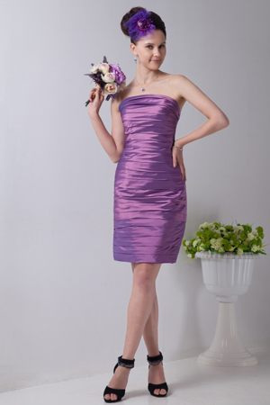 Cathcart South Africa Lavender Strapless Ruches Bridesmaid Dress