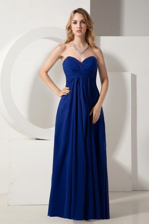 Brits South Africa Sweetheart Beaded Royal Blue Bridesmaid Dress