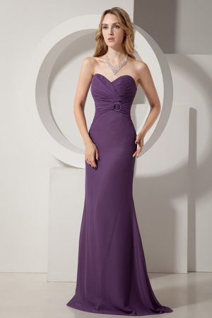 Sweetheart Dark Purple Ruches Bridesmaid Dress in Berlin Germany
