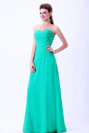 Turquoise Sweetheart Ruches Bridemaid Dress in Montpellier France