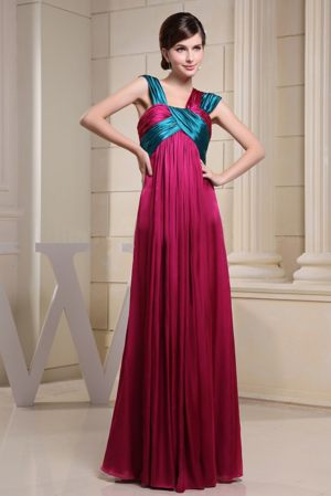 Durban South Africa Asymmetrical Ruches Hot Pink Bridesmaid Dress