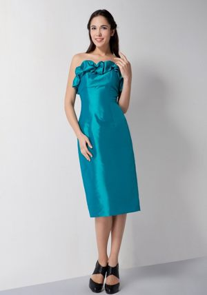 Strapless Teal Column Bridesmaid Dress in Centurion South Africa