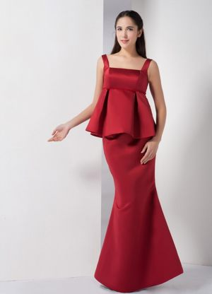 Delmas South Africa Mermaid Straps Bridesmaid Dress in Wine Red