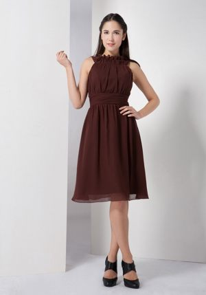 Brits South Africa Strapless Brown A-line Bow Bridesmaid Dress