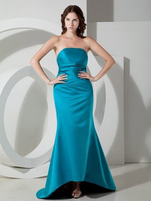 Sky Blue Strapless Column Bridesmaid Dress in Jacobs South Africa