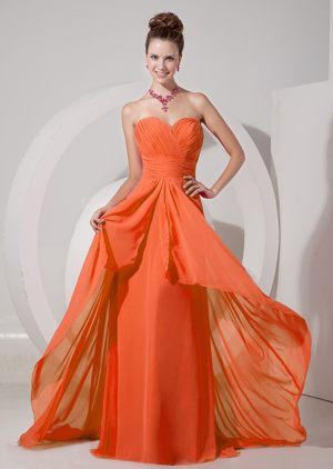 Estcourt South Africa Sweetheart Bridesmaid Dress in Orange Red