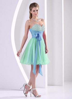 Multi-color Beading Sweetheart Sash Bridesmaid Dress in Toulouse
