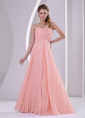 Brits South Africa One Shoulder Watermelon Pleat Bridesmaid Dress