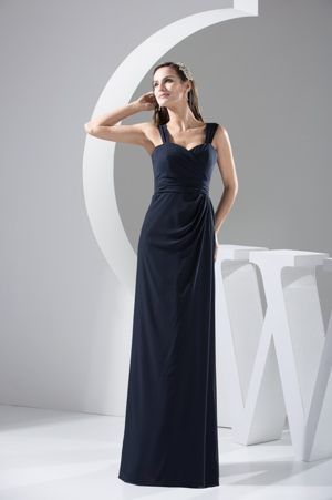 Straps Sweetheart Black Ruches Bridesmaid Dress in Bremen Germany
