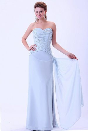 Sweetheart Light Blue Ruches Bridemaid Dress in Addo South Africa