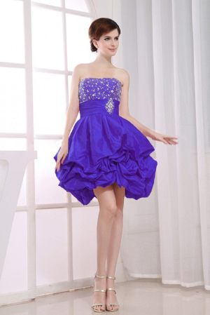 Purple Beading A-Line Bridesmaid Dresses with Pick-ups in Gympie