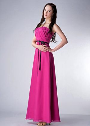 Chiffon Fuchsia Ankle-length Empire Bridesmaid Dress in Penrith