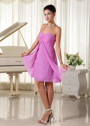 Sweetheart Lavender Chiffon Bridesmaid Gown in Greater Hobart TAS