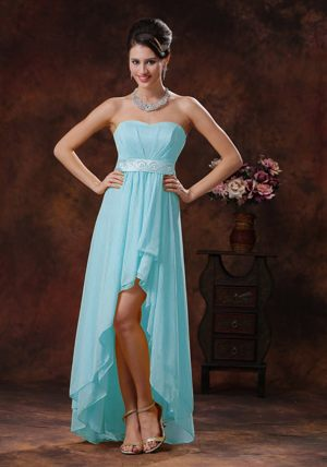 Baby Blue Sashed High-low Bridemaid Dresses in Albury-Wodonga VIC