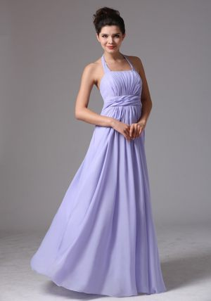 Scoop Baby Blue Ruched Bridesmaid Dress With Beading in Newcastle
