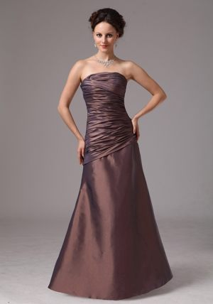 Taffeta Brown Ruched Bridesmaid Dress in Canberra-Queanbeyan ACT