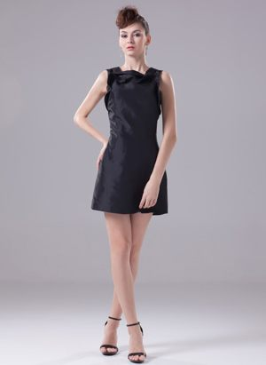 Black Mini-length Square Bridemaid Dress For Wedding in Brisbane