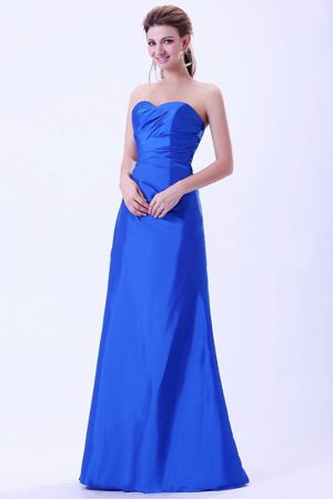 Sweetheart Royal Blue Taffeta Bridemaid Dress for Summer Wedding
