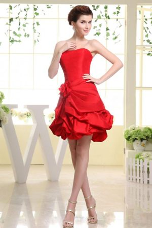 Wodonga VIC Hand Made Flower Red Bridesmaid Dresses With Pick-ups