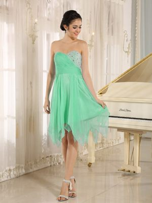 Beaded Green Short Sweetheart Bridemaid Dresses in Kalgoorlie WA