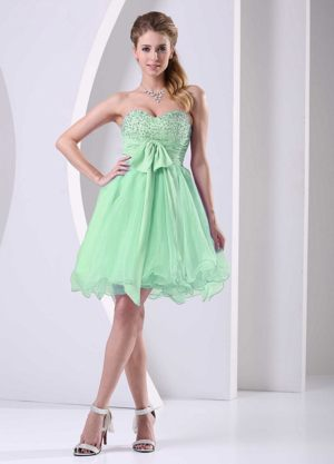 Spring Green Knee-length Beaded Bridemaid Dress in Kalgoorlie WA