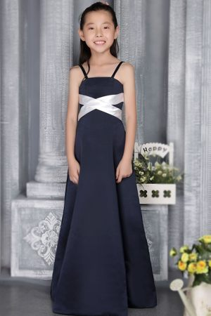 Column Straps Navy Blue Junior Bridesmaid Dress in South Carolina
