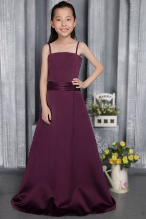 Straps Dark Purple A-line Junior Bridesmaid Dress in South Dakota