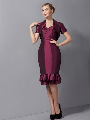 Taffeta Burgundy Bridesmaid Dress with Straps in Campbelltown NSW