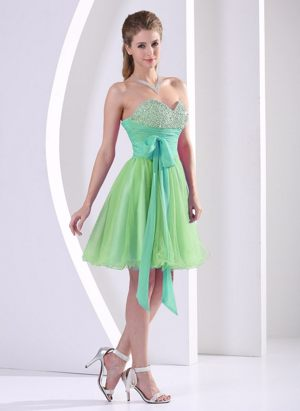 Beaded Multi-color Wedding Spalding Bridesmaid Dresses with Sash