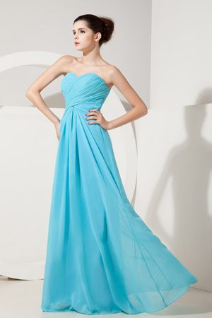 Chiffon Ruched Baby Blue Bridesmaid Dresses in Oadby Leicestershire