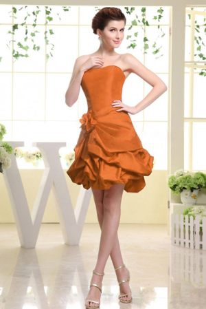Pick-ups Hand Made Flowers Rust Red Bridesmaid Dress in Peterhead