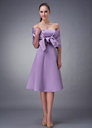 Lavender Satin Strapless New Dresses for Bridesmaid in Glenrothes