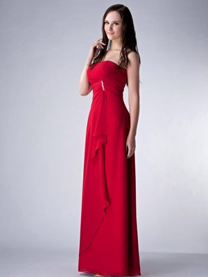 Beading Chiffon Wine Red 2014 Bridesmaid Dresses in Cowdenbeath Fife