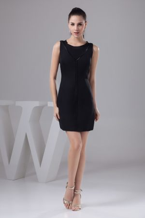 Black Scoop Satin 2013 Cheap Bridesmaids Dresses in Killearn Stirling