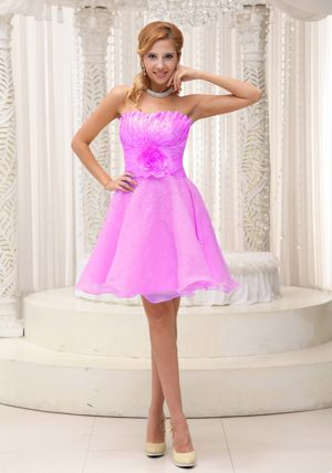Flouncing Strapless Beading Wedding Outfits For Bridesmaid