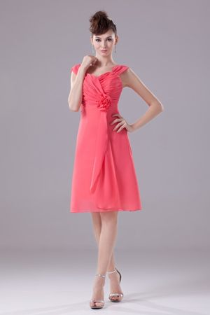Cap Sleeves Knee-length Informal Bridesmaid Dresses in Great Falls