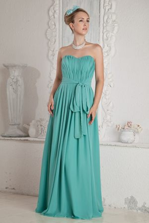 Sweetheart Turquoise Floor-length Maternity Bridemaid Dress