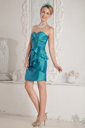 Teal Junior Bridesmaid Dress Column Sweetheart in Southaven