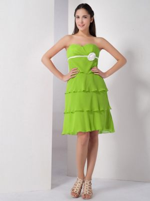 Bowling Green Ohio Sweetheart Flowers Yellow Green Bridesmaid Dress