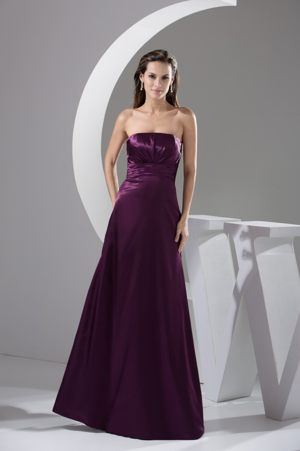 Side Zipper Ruched Strapless Taffeta Bridesmaid Dresses in Elgin Texas