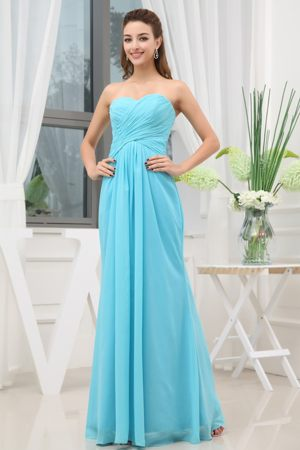 Elizabethton Sweetheart Ruching Aqua Blue Bridesmaid Dresses in 2013