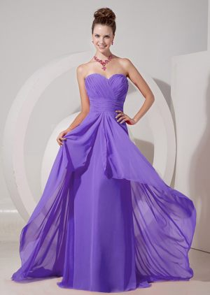 Brush Train Ruched Sweetheart Lavender Bridesmaid Dresses in Ohio