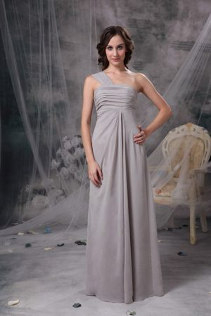 Blainville Grey Ruche One Shoulder Dress for Bridesmaids in North Bay