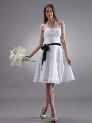 New Brunswick for White Maternity Bridesmaid Dresses with Black Sash