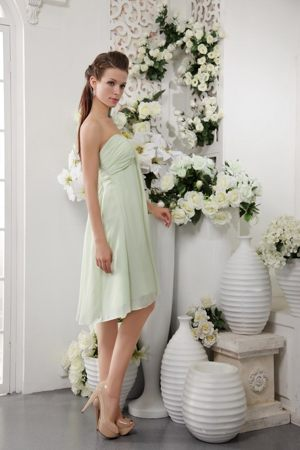 Oshawa Empire Knee-length 2013 Dresses for Bridesmaid in Apple Green