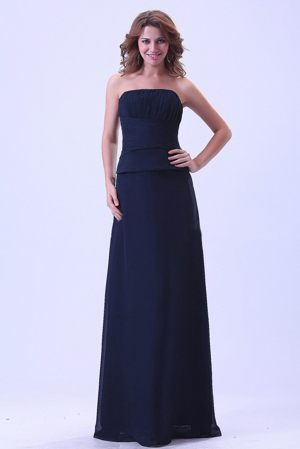 Navy Blue Strapless 2013 Wedding Bridesmaid Dresses Made in Chiffon
