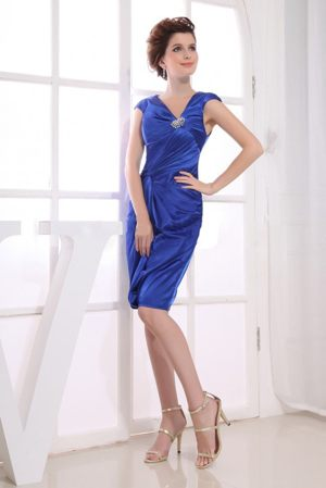 Royal Blue 2013 Bridesmaid Dresses for wedding with V-neck and Straps