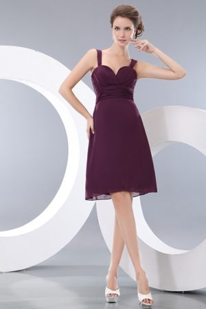 Burgundy Straps and Sweetheart Dresses for Bridesmaid Under 100 in A-line